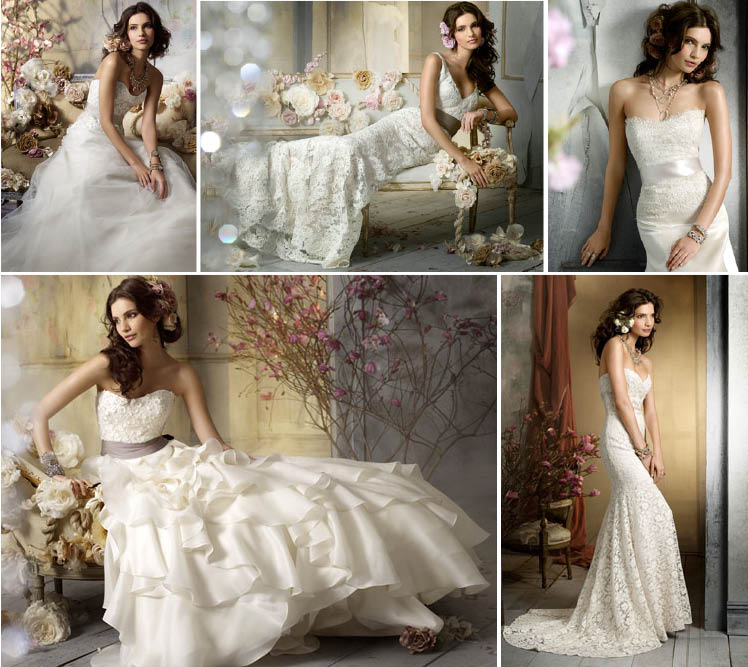 Jim Hjelm Fall 2009 bridal collection available at Meg Guess Couture Bridal in Oklahoma City
