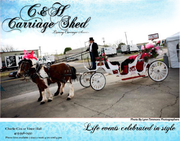 C&H Carriage Shed offers Oklahoma wedding transportation for Oklahoma brides and grooms