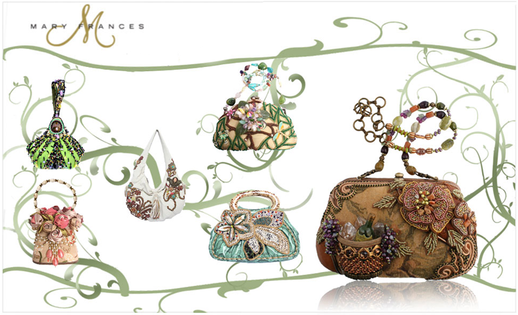 Mary Frances purses available at JJ Kelly Bridal in Oklahoma City