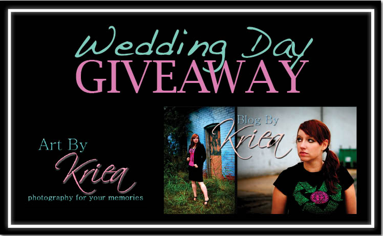 One lucky Oklahoma couple will win the Wedding Day Giveaway from Art By Kriea