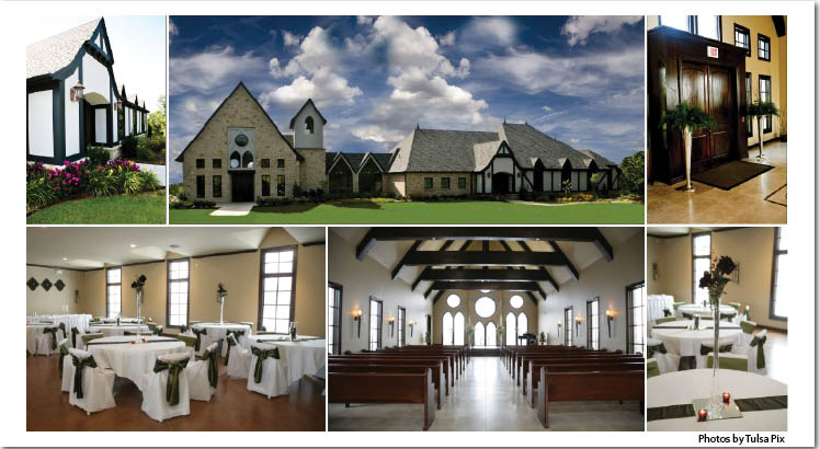 Vesica Piscis Chapel available for Oklahoma weddings and receptions located in Catoosa, Oklahoma, near Tulsa