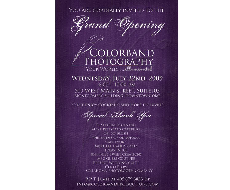 Oklahoma wedding photographers Colorband Photography grand opening in downtown Oklahoma City