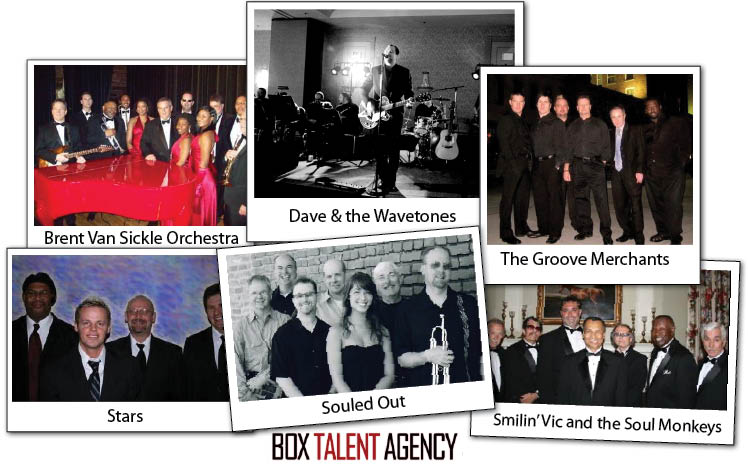 Box Talent Agency provides Oklahoma wedding bands and entertainment