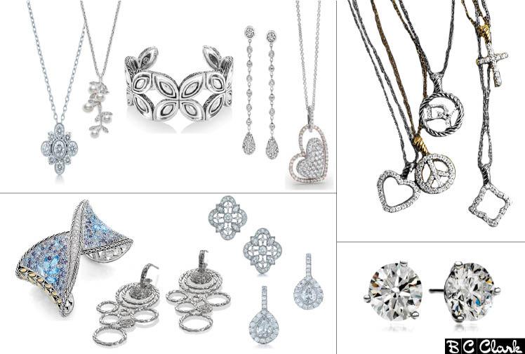 Wedding day jewelry by Mikimoto, Simon G., John Hardy and David Yurman available at B.C. Clark Jewelers in Oklahoma City
