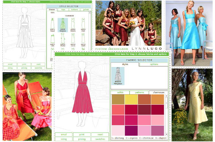 Lynn Lugo available at Meg Guess Couture in Oklahoma City offers create-your-own, custom bridesmaids dresses