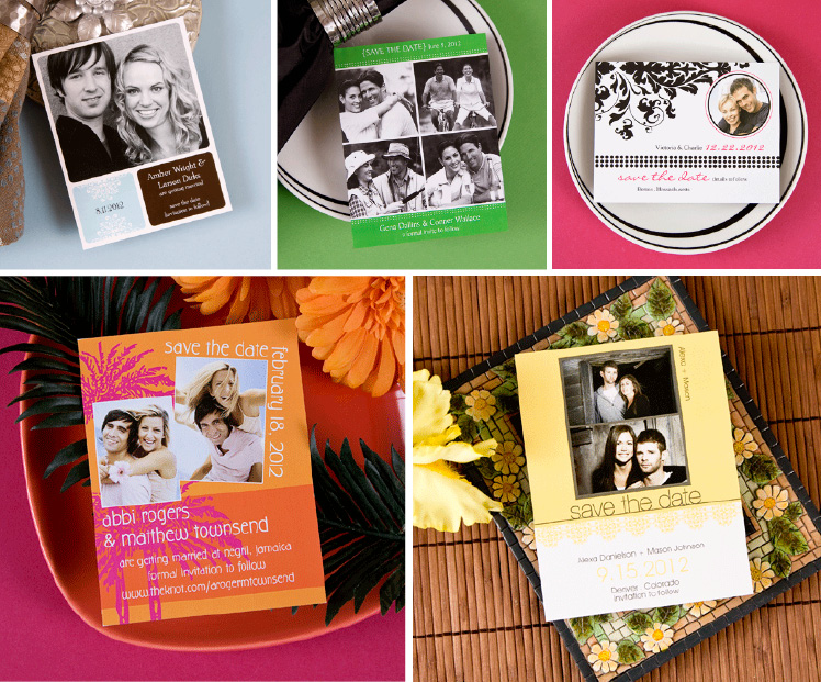 Save the Date Magnets from Carlson Craft available at J.J. Kelly Bridal Salon and Paper N' More in Oklahoma City