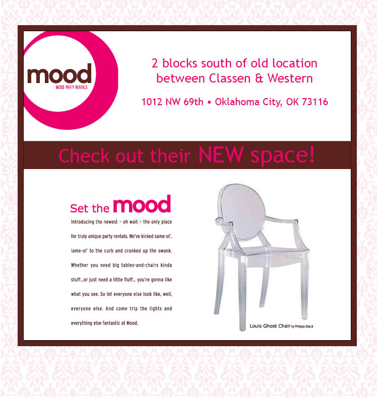 Mood Party Rentals has moved locations in Oklahoma City