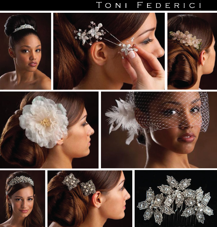 Toni Federici hair accessories available at J.J. Kelly Bridal Salon and Moliere Bridal Salon in Oklahoma City