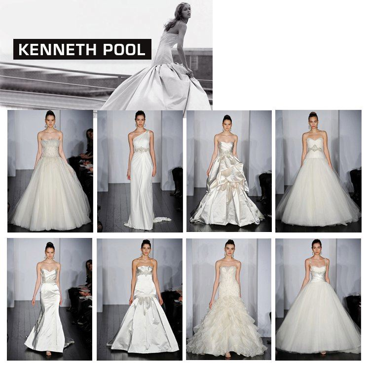 Kenneth Pool Spring 2010 Collection available at Meg Guess Couture Bridal in Oklahoma City