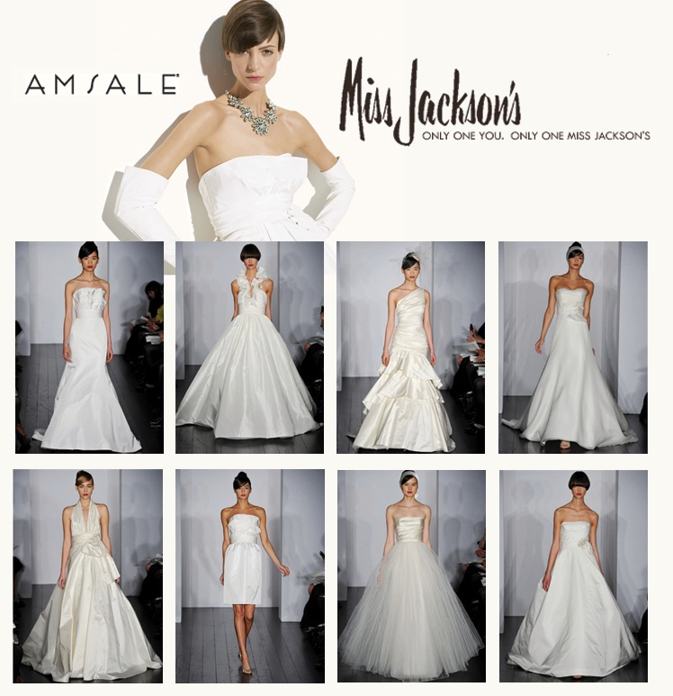 2010 Amsale Bridal Collection available at Miss Jackson's in Tulsa, Oklahoma