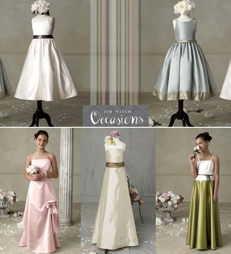 Darling Flower Girl And Junior Bridesmaid Dresses By Jim Hjelm
