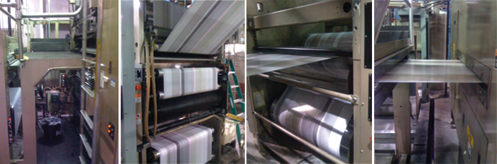 Web Press at Motherall Printing - printing of The Brides of Oklahoma Spring/Summer 2009 issue