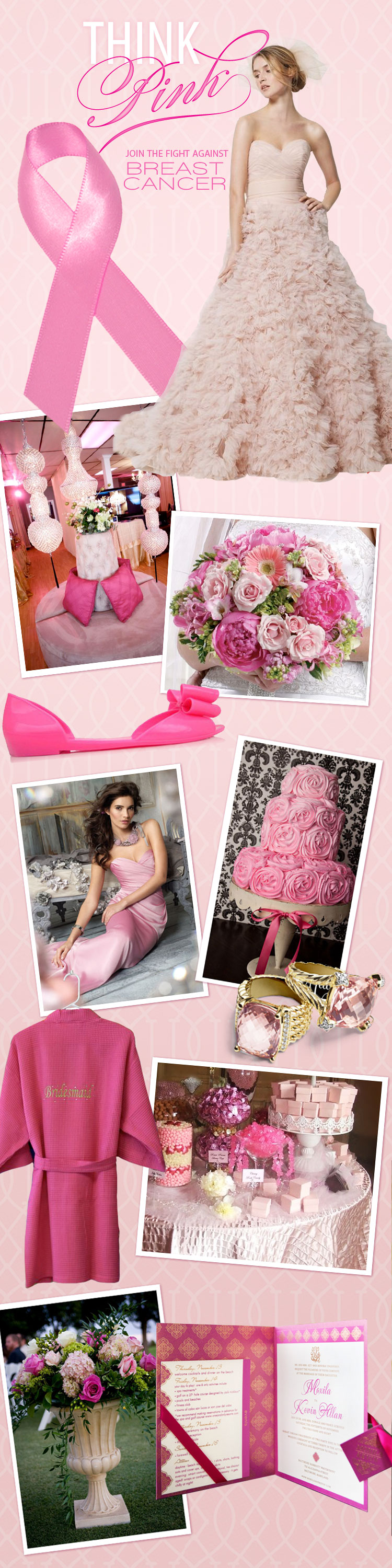 Brides of Oklahoma Breast Cancer Awareness pink wedding inspiration