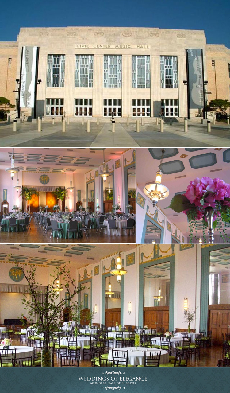 Oklahoma City wedding venue Meinders Hall of Mirrors at the Civic Center