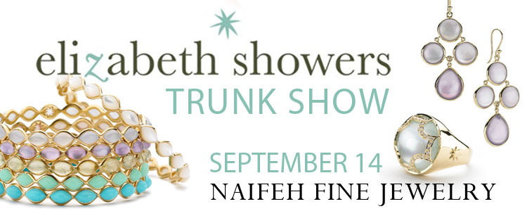 Elizabeth Showers wedding jewelry at Naifeh Fine Jewelry