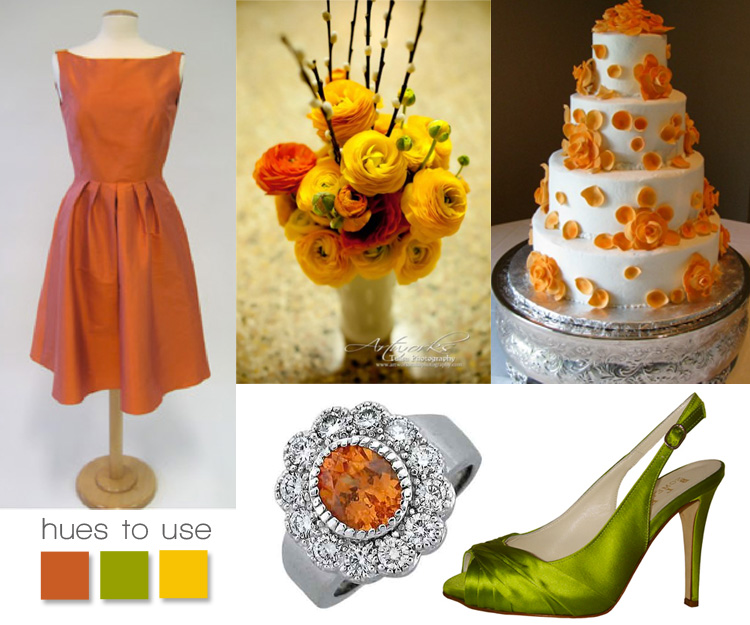 Brides of Oklahoma hues to use orange green and yellow inspiration board