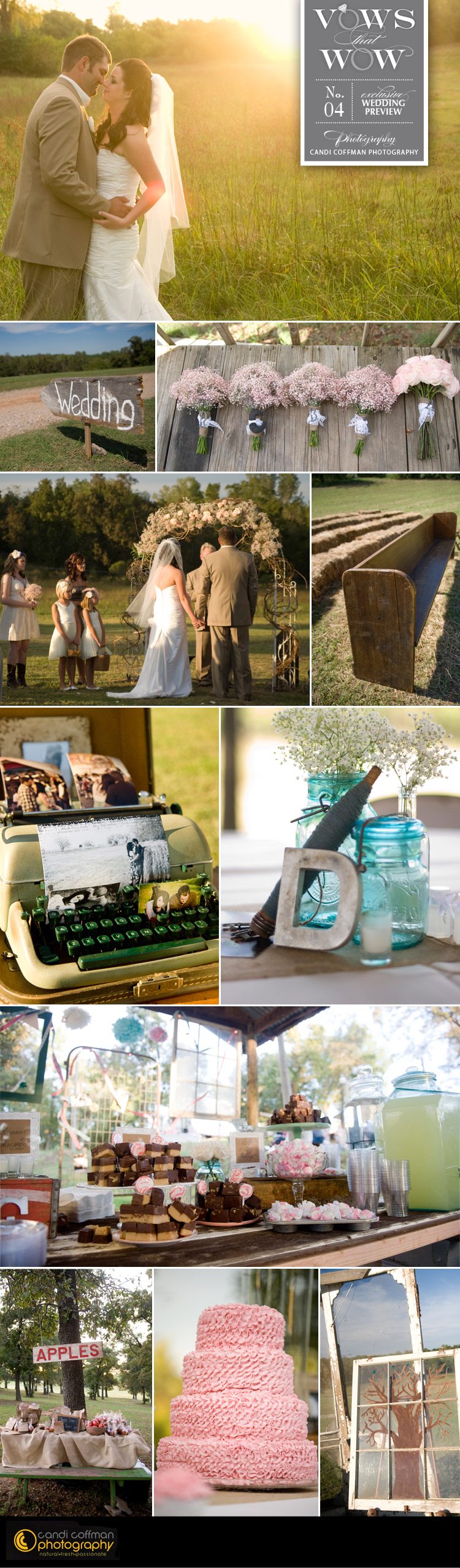 Brides of Oklahoma vows that wow featuring Oklahoma wedding photographer Candi Coffman Photography