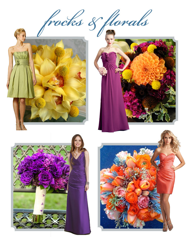 Oklahoma bridesmaid dresses and wedding flowers