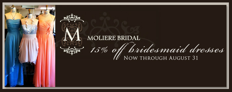 Oklahoma City wedding dresses and bridesmaid dresses Moliere Bridal Salon