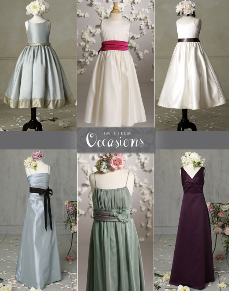 Oklahoma flower girl and junior bridesmaid dresses Jim Hjelm Occasions available at Meg Guess Couture in Oklahoma City