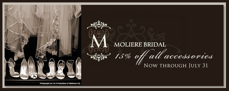 Oklahoma wedding dresses and bridesmaid dresses Moliere Bridal in Oklahoma City