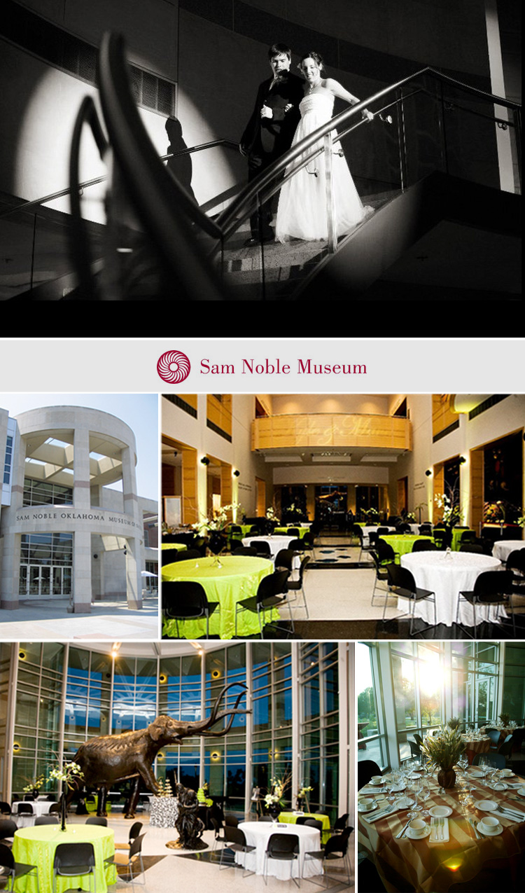 Sam Noble Oklahoma Museum of Natural History Oklahoma wedding and reception venue