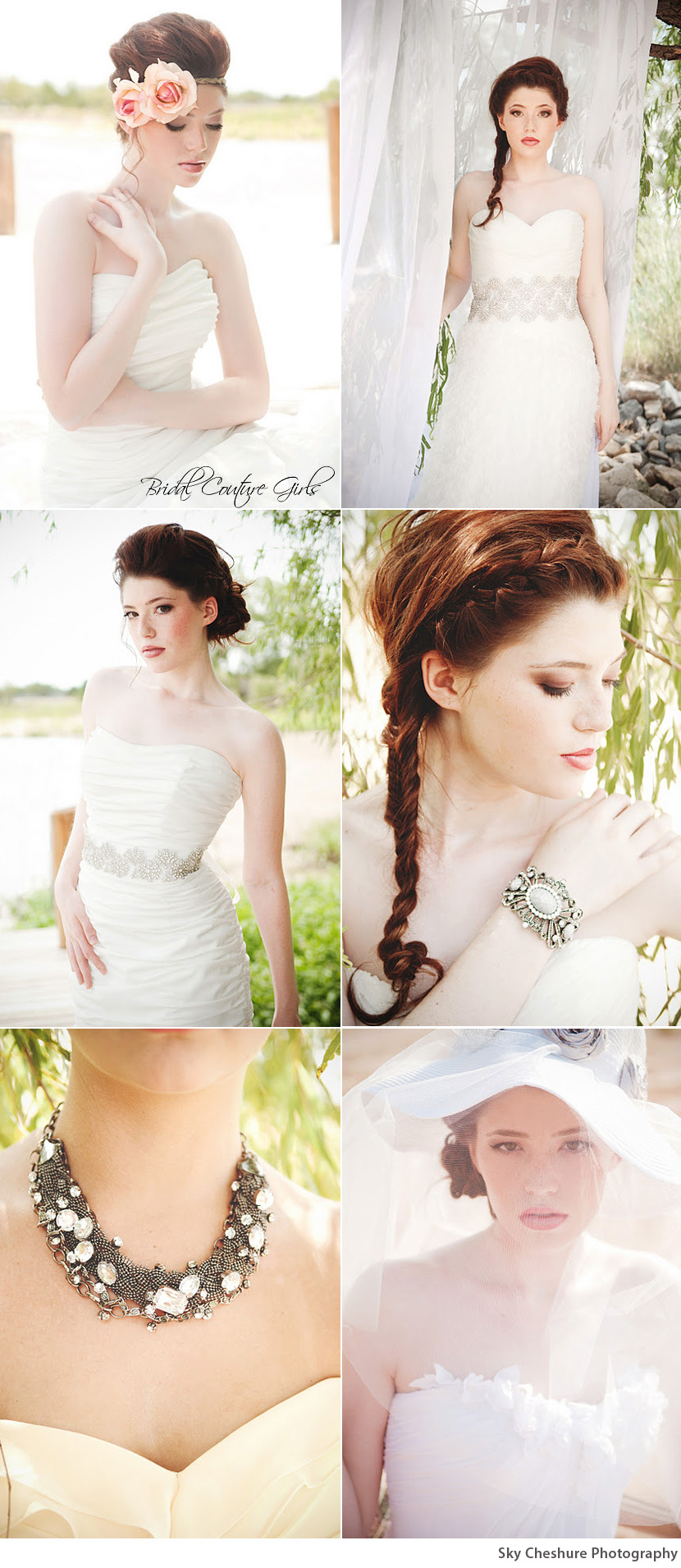 Oklahoma wedding accessories by Bridal Couture Girls