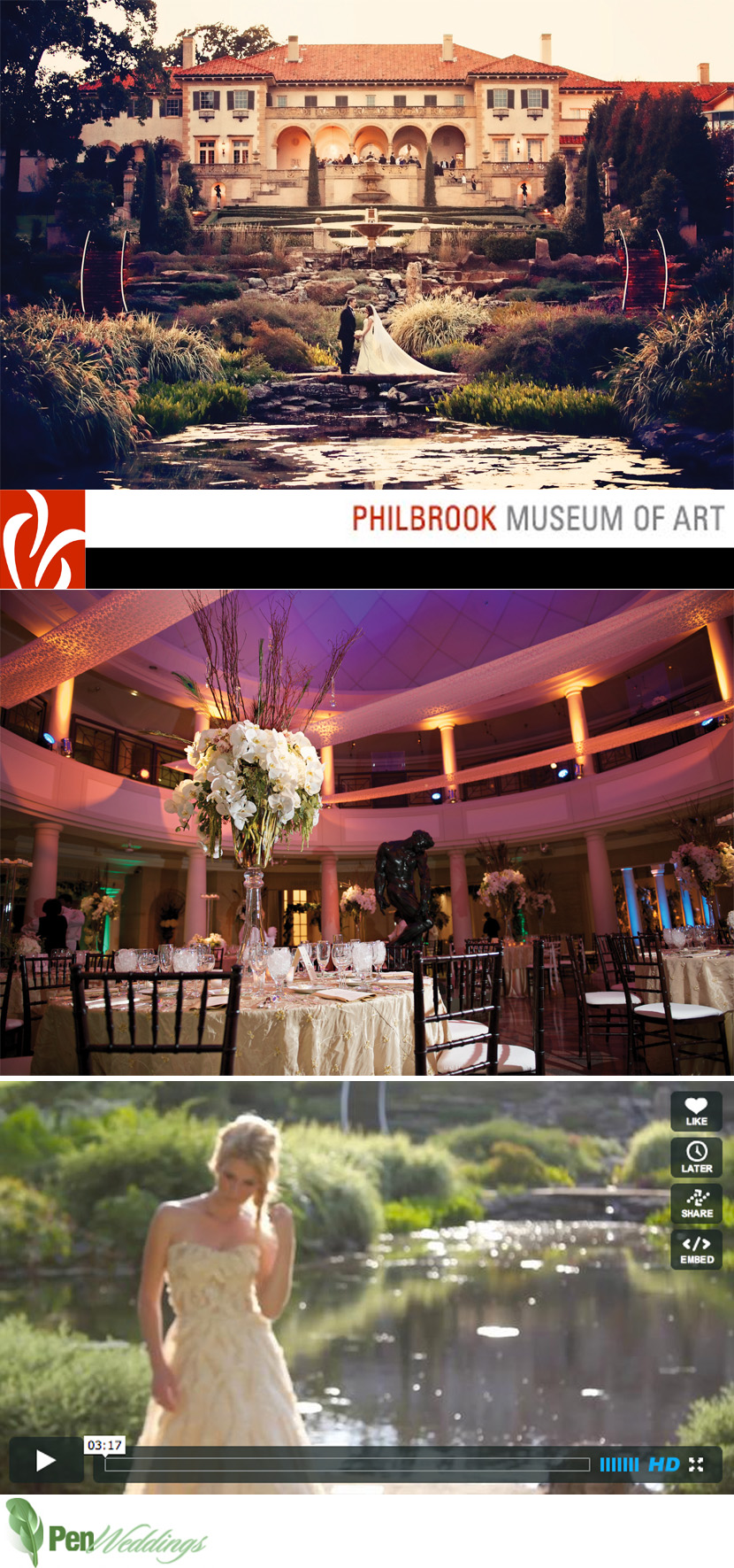 Oklahoma wedding and reception venue Philbrook Museum of Art in Tulsa