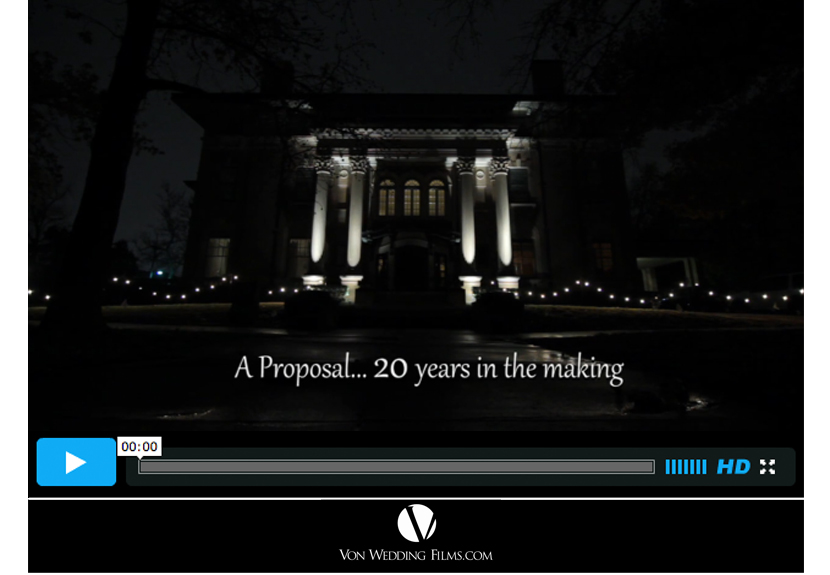 Oklahoma wedding proposal video Von Wedding Films