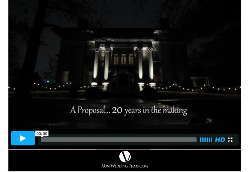 Oklahoma wedding proposal video Von Wedding Films