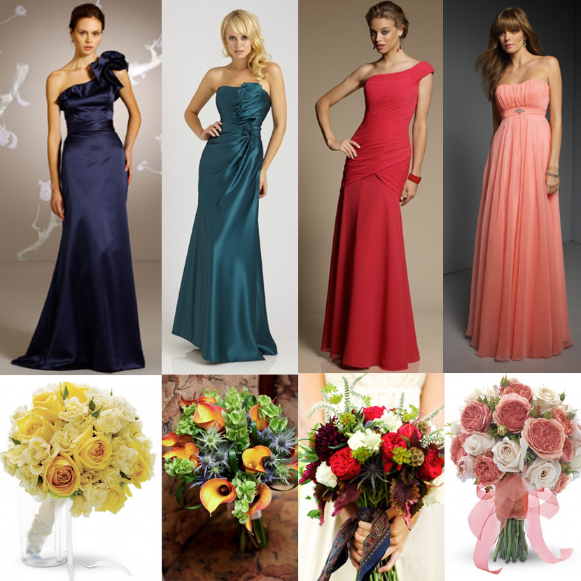 Oklahoma bridesmaid dresses and Oklahoma wedding flowers