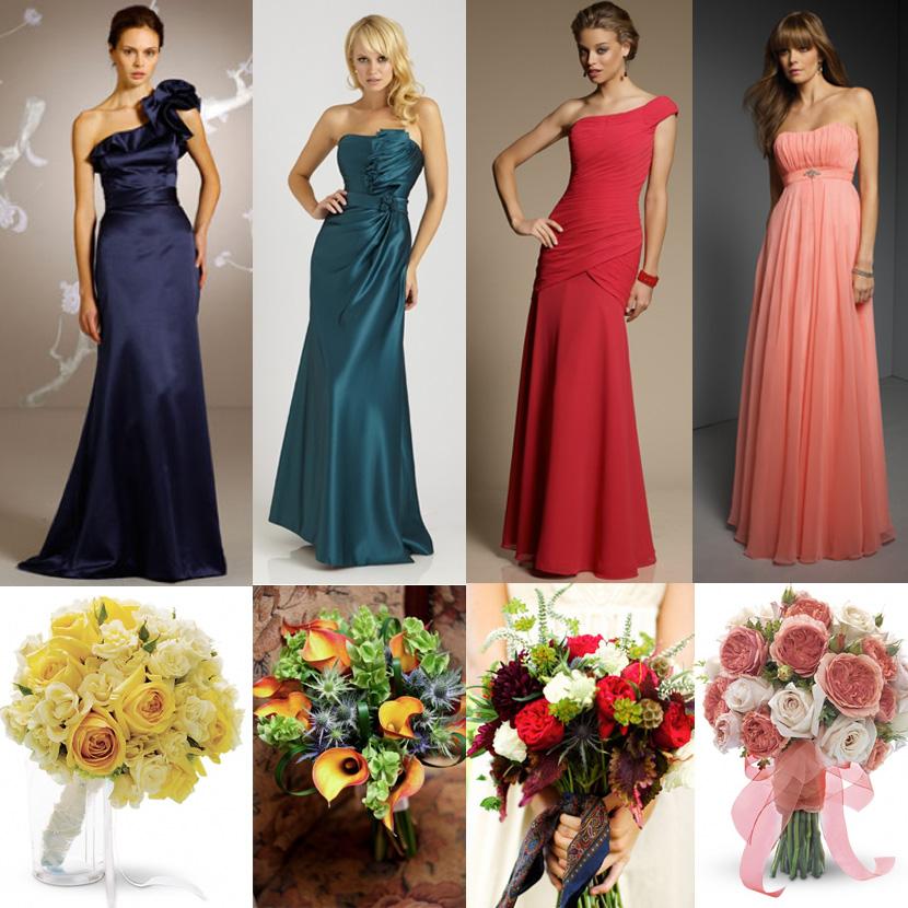 Oklahoma bridesmaid dresses and Oklahoma wedding flowers