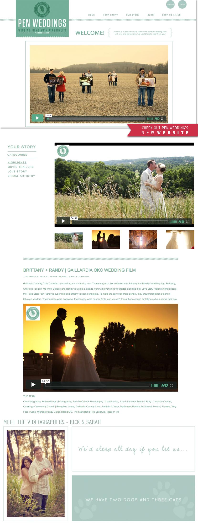 Oklahoma wedding videography Pen Weddings