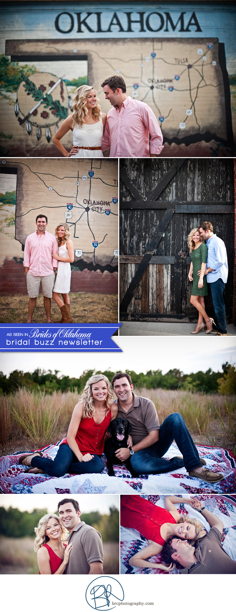 Oklahoma wedding and engagement photographer BRC Photography