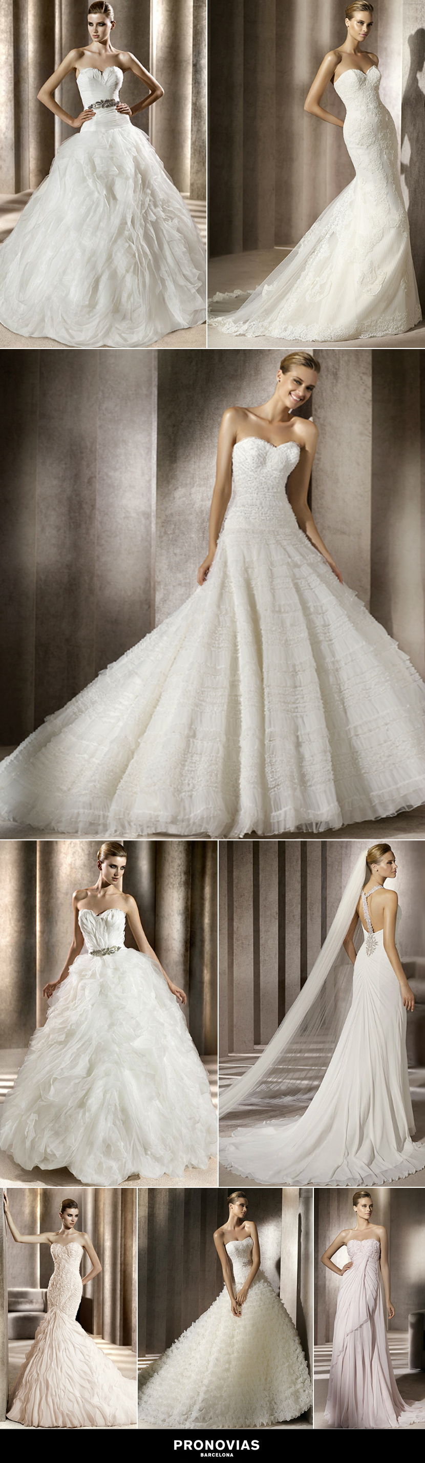 Pronovia gowns available at The Bridal Boutique in Norman, Oklahoma