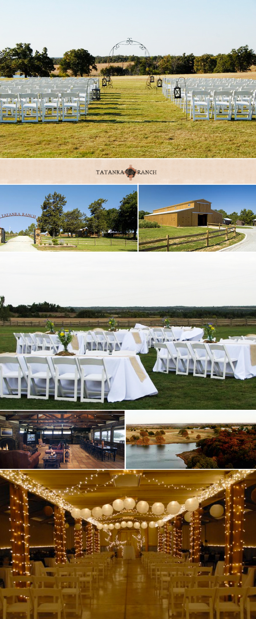 Oklahoma wedding and reception venue Tatanka Ranch