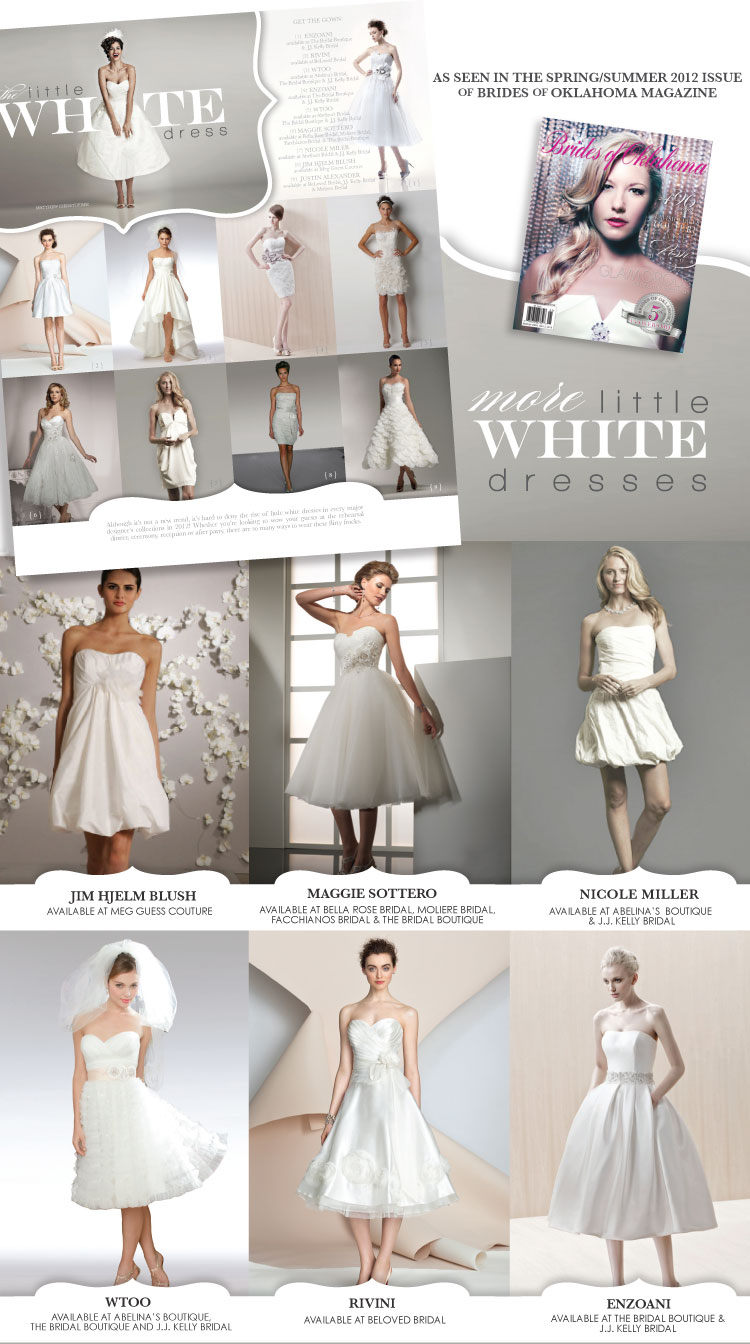 Brides of Oklahoma little white dress feature