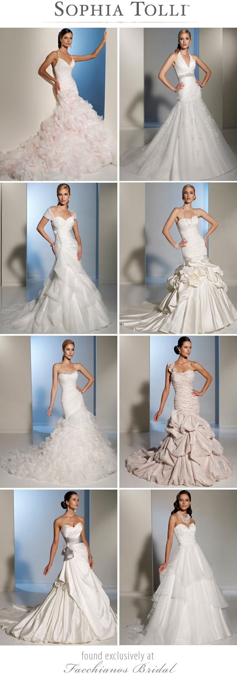 Oklahoma wedding gowns Sophia Tolli at Facchianos Bridal in Tulsa