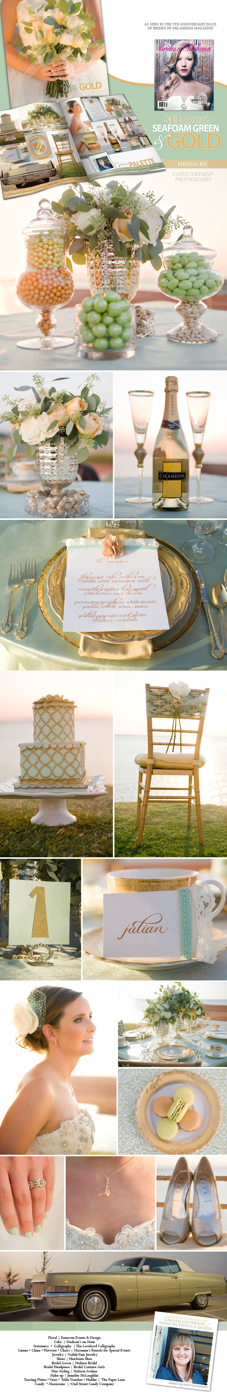Green and gold wedding color inspiration