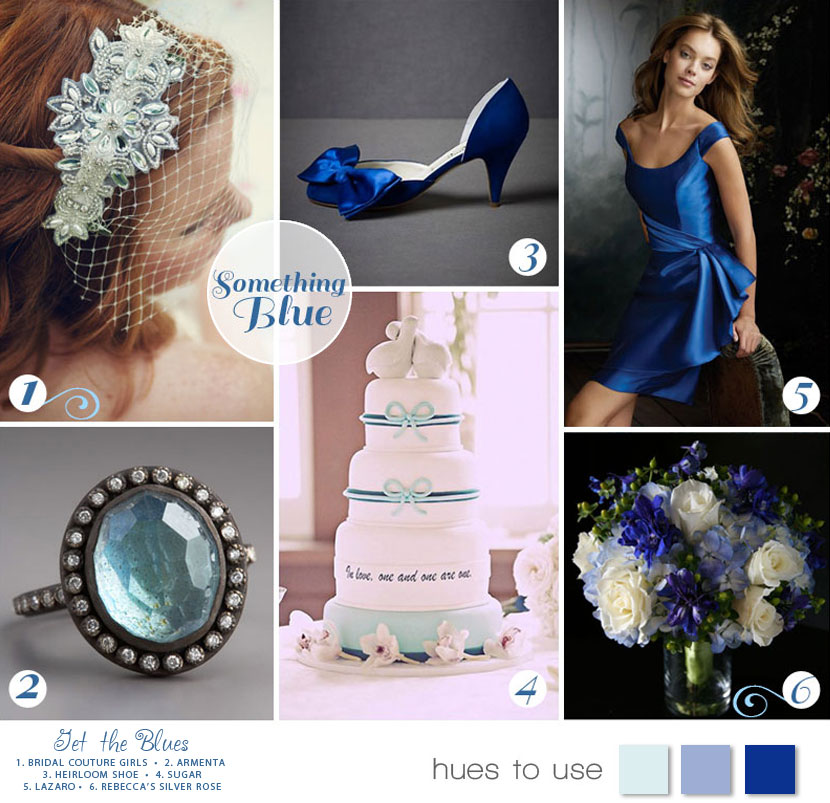 Blue wedding color inspiration