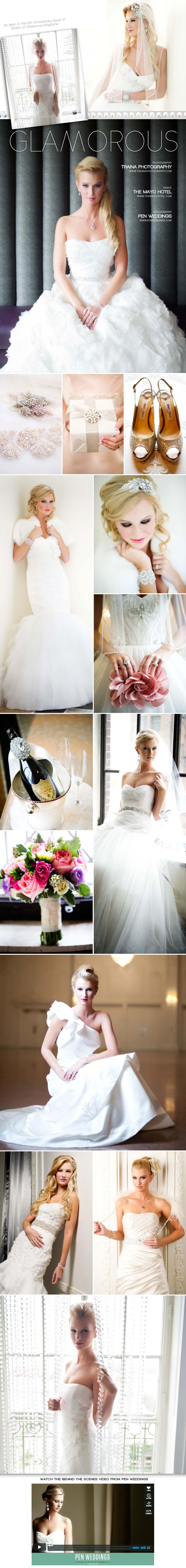 Glamorous Oklahoma wedding gowns