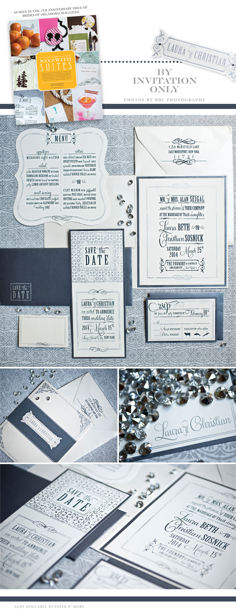 Oklahoma wedding invitations from By Invitation Only