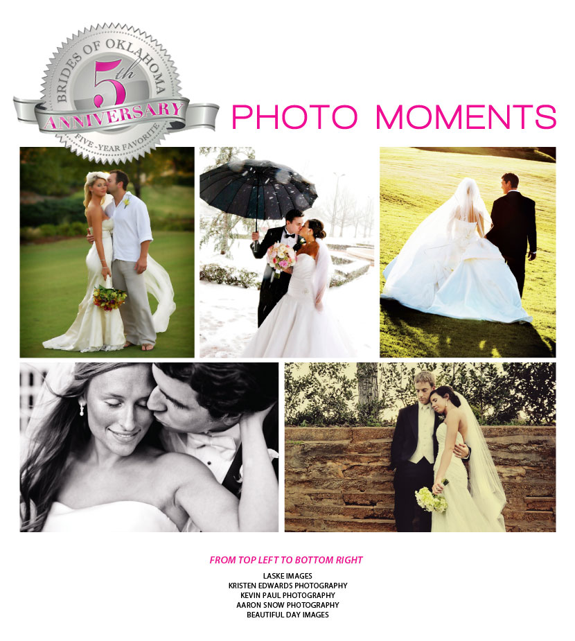 Brides of Oklahoma 5th Anniversary five year favorite photo moments