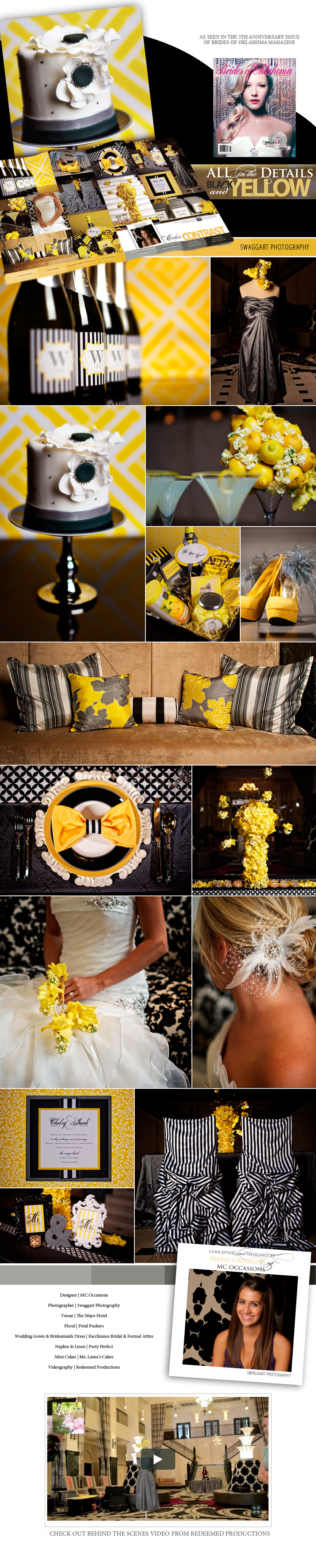 Black and Yellow Wedding Details