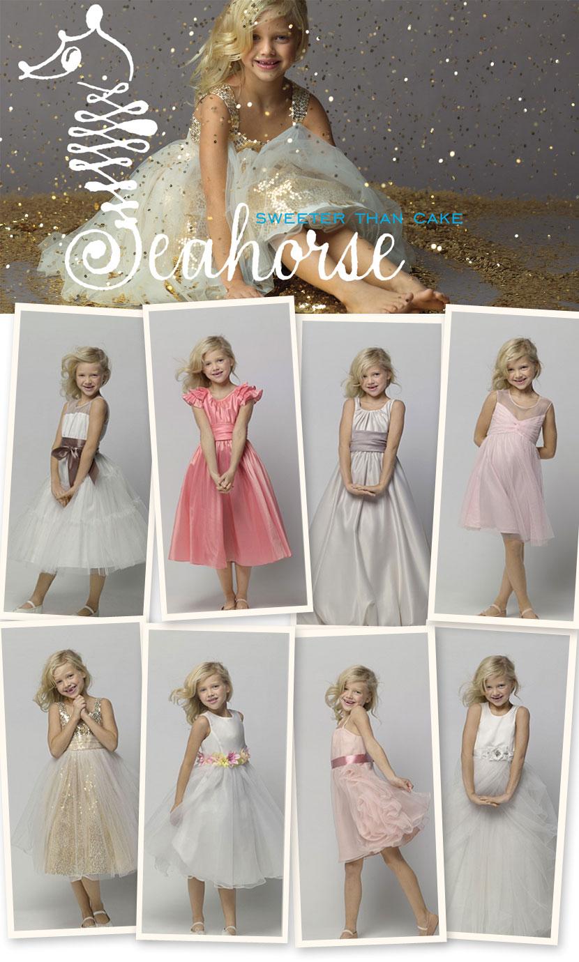 Seahorse Flower Girl Dresses