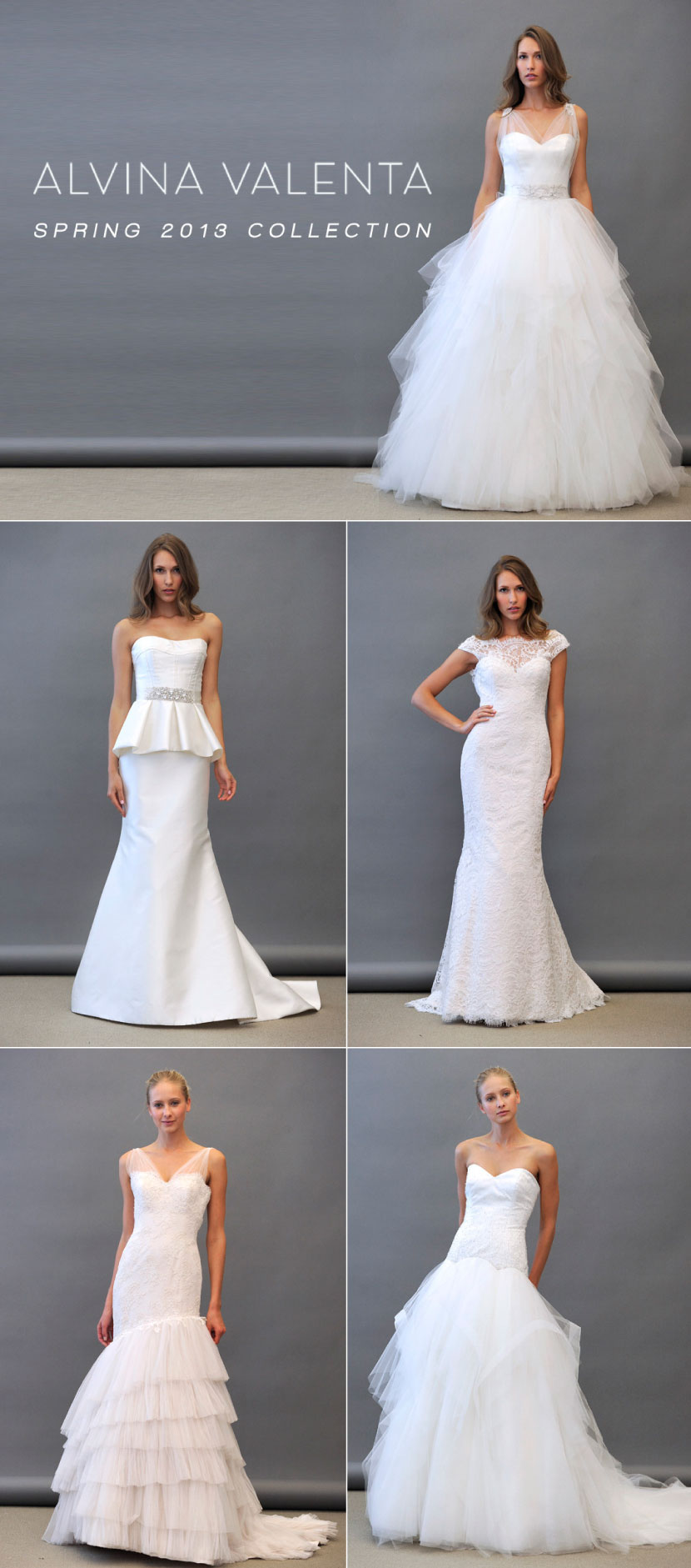Alvina Valenta Spring 2013 wedding gown collection