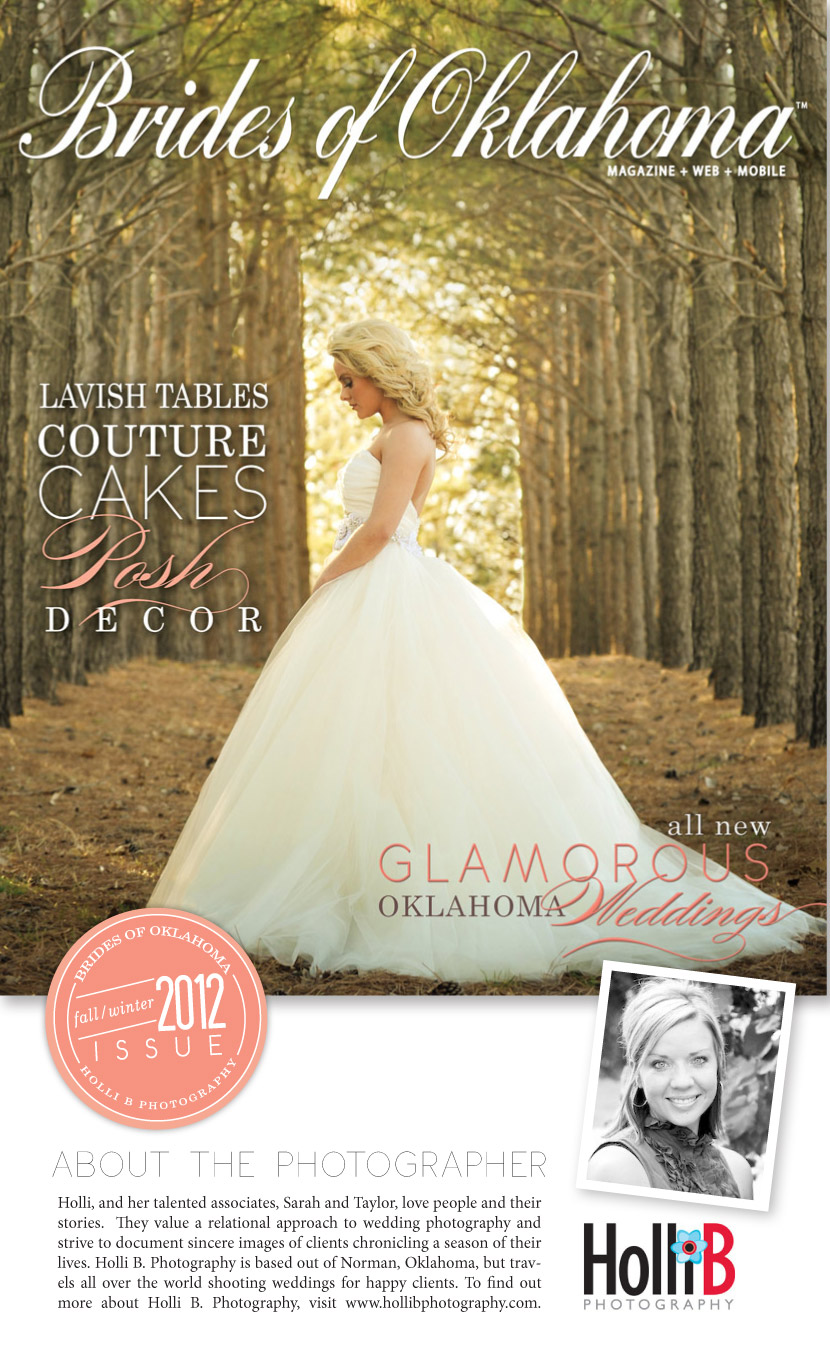 Brides of Oklahoma Fall/Winter 2012 cover reveal