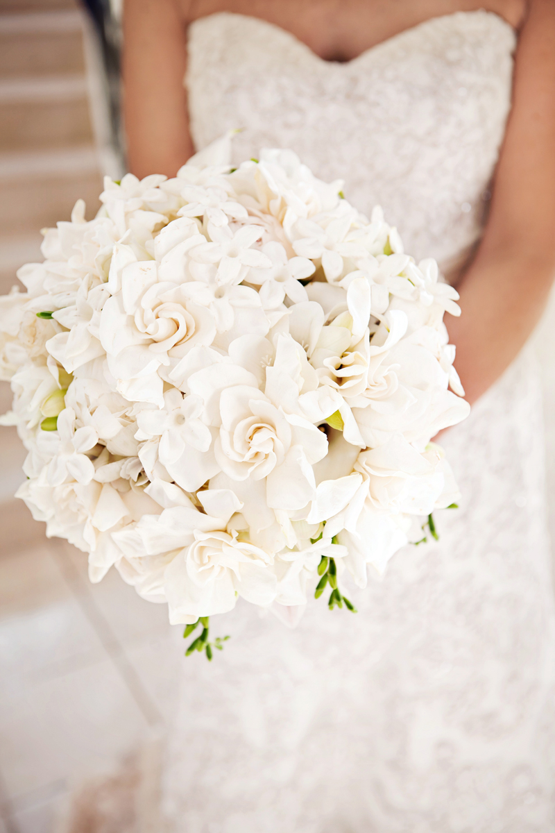 Winter White Wedding Bouquets